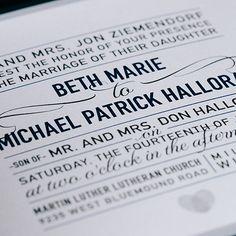 Custom fresh wedding invitation design by Paperwhites (paperwhites-invitations.com) #black #white #modern
