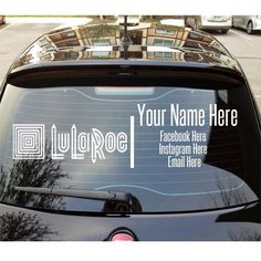 LuLaRoe fashion consultant car decals! advertise your business now! #Lularoe #howiroe #leggings #pants #leggingsarepants #fashion #consultant