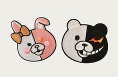 Monobear and Monomi Patches Dangan Ronpa by PuppyBaoCreations, $14.00