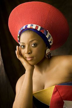 Princess Nandi Zulu is listed (or ranked) 29 on the list The Most Beautiful Royal Women Around the World African Hats, African Wear, African Fashion, African Theme, African Tribes, African Dress, Beautiful African Women, African Beauty, Triathlon
