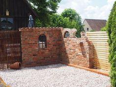 Ruinenmauer selber bauen | Altpreußische Backsteine | Mediterrane Dachziegel