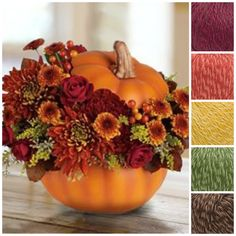 In honor of the season, we're inspired by Fall colors!! The colors of Tahki's yarn TUCSON are all over this lovely autumnal bouquet! Check the yarn out today! Photo from Lauren Conrad's blog.