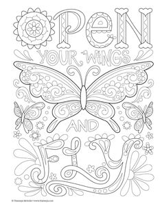 Good Vibes Coloring Book (Coloring is Fun) (Design Originals): 30 Beginner-Friendly Relaxing & Creative Art Activities on High-Quality Extra-Thick Perforated Paper that Resists Bleed Through Love Coloring Pages, Printable Adult Coloring Pages, Coloring Books, Coloring Sheets, Anatomy Coloring Book, Color Quotes, Art Activities, Colorful Pictures, Beautiful