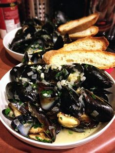 nice Mussels in white wine sauce...