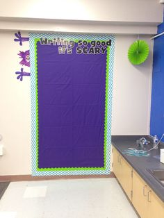 Monsters University theme classroom! Bulletin board