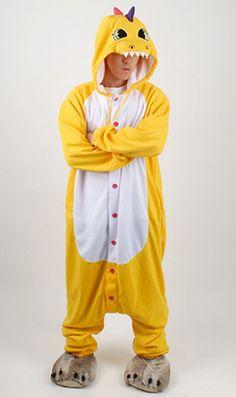 Yellow Dinosaur Kigurumi Halloween Onesie - 4kigurumi.com  http://www.4kigurumi.com/yellow-dinosaur-kigurumi-halloween-onesie