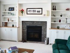 What Are the Pros And Cons of Modern Fireplace Mantels? : Modern Fireplace Mantels And Surrounds. Modern fireplace mantels and surrounds. Modern Fireplace Mantels, White Fireplace, Brick Fireplace, Fireplace Surrounds, Fireplace Design, Fireplace Ideas, Mantel Ideas, Stone Fireplaces