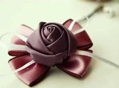 DIY Tutorial: Ribbon Flowers / DIY How to make a rose flower with ribbon, boutonniere or corsage - YouTube - Bead&Cord