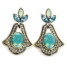 Heidi Daus Hope Never Dies Crystal Drop Earrings