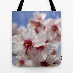 White spring. Almond flowers Tote Bag by Guido Montañés - $22.00