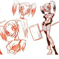 #shaneglines #harleyquinn #godsandmonsters few more Harley concepts for Justice League: Gods and Monsters