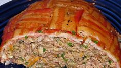 Bacon and beef together in a meatloaf?! This will be on my dinner table tonight!
