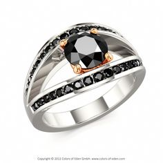Black Diamond Engagement Ring #custom design @Reis-Nichols Jewelers