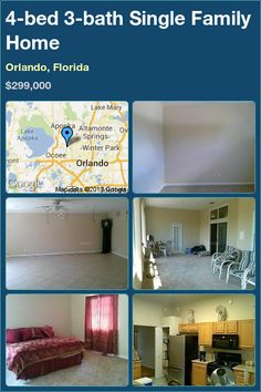 4-bed 3-bath Single Family Home in Orlando, Florida ►$299,000 #PropertyForSale #RealEstate #Florida http://florida-magic.com/properties/1916-single-family-home-for-sale-in-orlando-florida-with-4-bedroom-3-bathroom