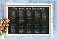 Wedding Reception Seating Chart Display Chalk Board 19 Ideas For 2019 Reception Seating Chart, Wedding Reception Seating, Seating Chart Wedding, Table Seating, Seating Charts, Seating Plans, Wedding Venues, Reception Entrance, Wedding Tables