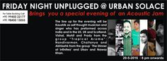 "Friday Night Unplugged @ Urban Solace bring you ""An Acoustic Jam"" - http://explo.in/22fUYOA #Bangalore #Music"