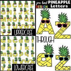 Pineapple Letters Clip Art- {jen hart Clip Art)