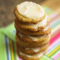 """Almond flour frosted """"sugar"""" cookies without refined sugar.  5-ingredient grain-free cookies with a coconut honey frosting:-)"""