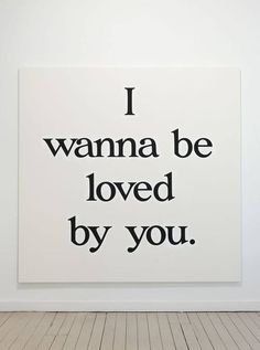 ...and you and nobody else but  you, I wanna be loved by you and you alone, boop boop be doop! ,#CM