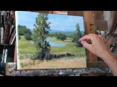 """""""Summer Pond"""" Part 2 Acrylic Country Pond Painting Demo - YouTube"""