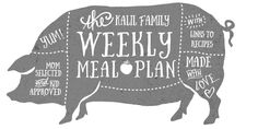 Health   Weekly Meal Plan   Kimberly Kalil Designs