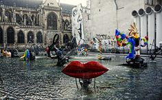 Stravinsky Fountain - Pompidou Center - Paris 3e | by BlueVoter - thanks for 1.3M views Oeuvre D'art, How To Take Photos, Les Oeuvres, Family Photos, Fountain, Sculptures, Street View, France, Paris