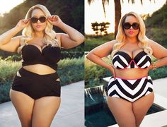 In love with today's #fashionfind from GabiFresh! It's her new swimsuit line from swimsuitsforall that is perfect for any #plussizebride on her honeymoon. Check out our full recap of the line tomorrow on Sexy Saturday! #curvybrides #prettypearbride | Check out the collection here: http://www.swimsuitsforall.com/GabiFresh-for-Swim-Sexy-Swimwear-Shop-All-L