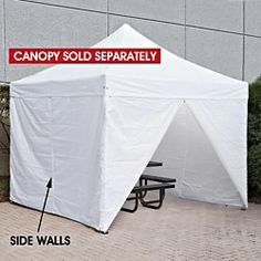 Side Walls for Instant Canopy - 10 x 10', White H-2676W