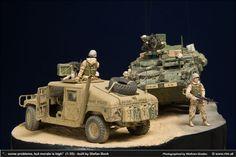 Operation Iraqi Freedom M 1127 ICV Stryker M1025 Humvee 1/35 Scale Diorama