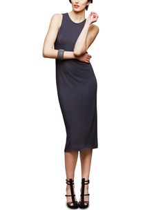 Feel like dressing up today with this Back Slit Sheath from GRACE NY  $245.00