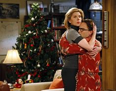 Big Bang Theory:  Leonard and his mom, having a closer mother-son relationship.  Christine Baranski and Johnny Galecki are wonderful!