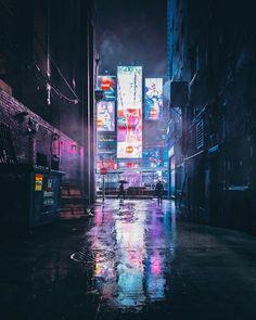 Toronto at Night: Photos by Bora - Inspiration Grid Cyberpunk City, Arte Cyberpunk, Cyberpunk Aesthetic, Urban Photography, Night Photography, Landscape Photography, Cityscape Photography, Night Aesthetic, City Aesthetic