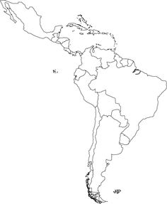 Blank Map Of Central And South America Printable Teaching ideas