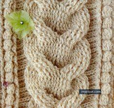 O crochê com cara de tricô  -  trança de crochê