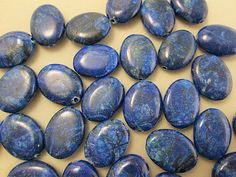 Close Out Beads Jasper Web Royal Blue Oval 20x15mm by FLcowgirls, $3.50
