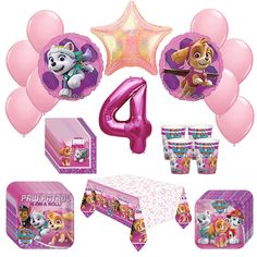Girl Pups Paw Patrol Skye & Everest 4th Birthday Party Pack 52pc -- Awesome products selected by Anna Churchill