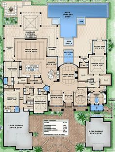 Impressive Features Floor Master Suite Butler Walkin Pantry CAD Available DenOfficeLibraryStudy Luxury MBR Sitting Area Mediterranean PDF Split Bedrooms Ar. Luxury House Plans, Dream House Plans, House Floor Plans, My Dream Home, Luxury Floor Plans, 4000 Sq Ft House Plans, 6 Bedroom House Plans, Large House Plans, Unique Floor Plans