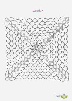 Crochet Square Patterns, Crochet Blocks, Crochet Diagram, Crochet Round, Crochet Chart, Crochet Squares, Crochet Granny, Filet Crochet, Crochet Motif