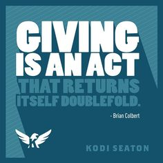 Giving is an act that returns itself doublefold. kodiseaton.com | #routinesnotresolutions #health #diet #fitness #exercise #motivation #body #training #inspiration #workout #dedication #gym #quotes #determination #fitspo #getfit #active #healthychoices #lifestyle #training #healthy #fitnessaddict #goals #fitlife #noexcuses #follow #igfit #igfitness #athlete #365fitness