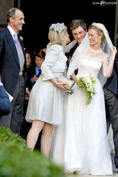 Prince Nicolas et Princesse Margaretha du Liechtenstein - Mariage du Prince Amedeo de Belgique et de Elisabetta Maria Rosboch von Wolkenstein, à la basilique de Santa Maria à Trastevere, Rome, Italie le 5 juillet 2014.