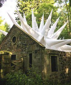 steve messam sets inflatable interventions across scotland's borders sculpture park