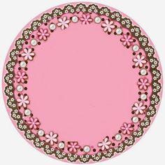 convite para imprimir rosa e marrom