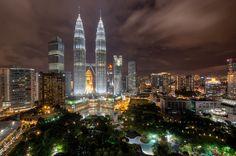 Petronas Towers and KLCC from Sky Bar, Kuala Lumpur