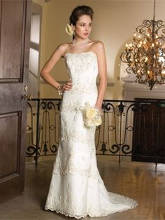 A-line Wedding Dress | This #glamorous wedding dress is a #brand new, 2014 style.