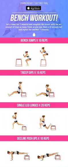 Bench Workout - Kayla Itsines