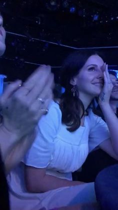 Lana Del Rey watching Father John Misty cover her song 'Ride' at the ASCAP music awards ceremony #LDR