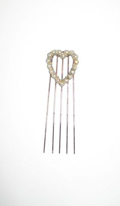Vintage Heart Shaped Hat Pin or Comb  with Faux by JerrysHouse, $11.00