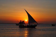Zanzibar sunset at Kendwa and Nungwi. Kenya and Tanzania Itinerary.