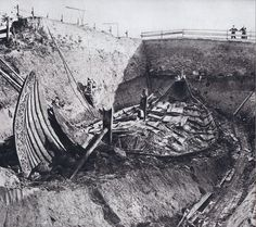 The Oseberg ship burial is a Viking Age burial mound containing a double female inhumation, which is located in the Oslofjord area in Norway.