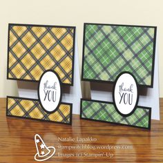 Split panel thank you cards by Natalie Lapakko with Warmth and Cheer DSP.